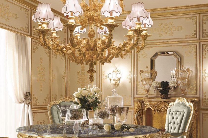 Chi tiết hoa tiết sắc nét, tỉ mỉ của nội thất cổ điển
