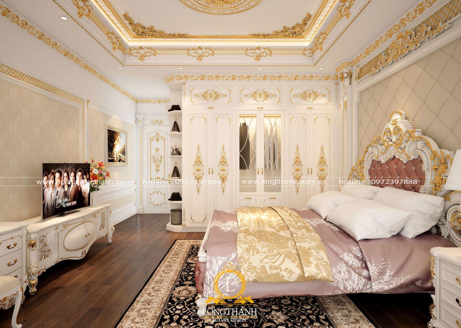 Chiếc giường tân cổ điển hoàng gia quyền quý