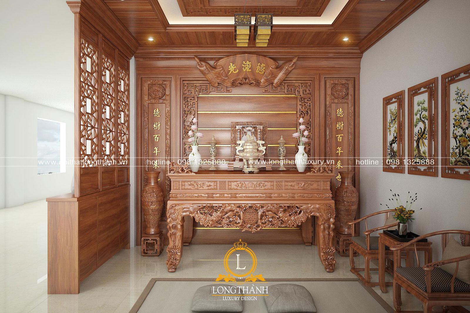 Chọn màu sơn phù hợp với phong cách thiết kế phòng thờ