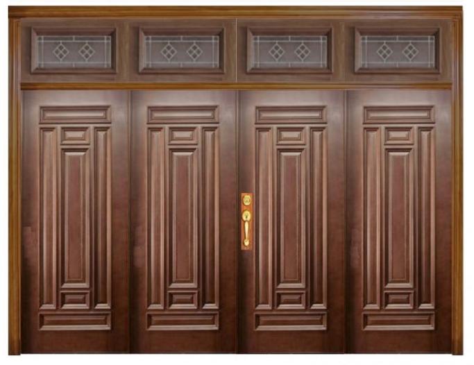 Cửa 4 cánh làm từ gỗ tự nhiên cho thiết kế nhà phố