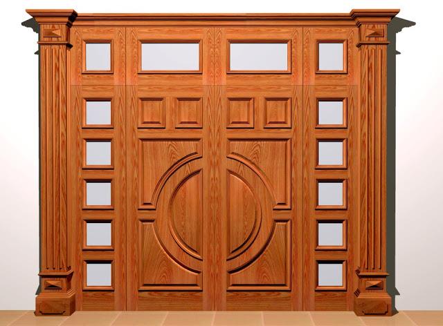 Thiết kế cửa gỗ kính sử dụng chất kiệu gỗ Sồi cao cấp cho nhà biệt thự