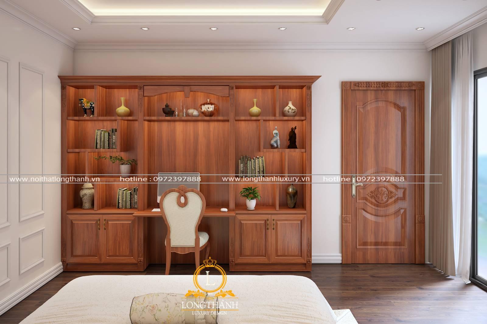 Cửa gỗ 1 cánh tân cổ điển phòng ngủ