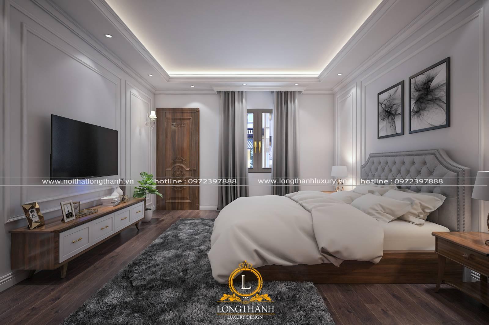 Cửa sổ đẹp cho phòng ngủ làm từ chất liệu gỗ tự nhiên có kích thước cân đối