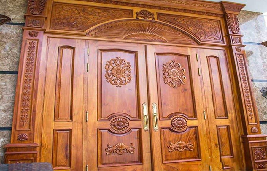 Cửa gỗ tân cổ điển gỗ cho biệt thự