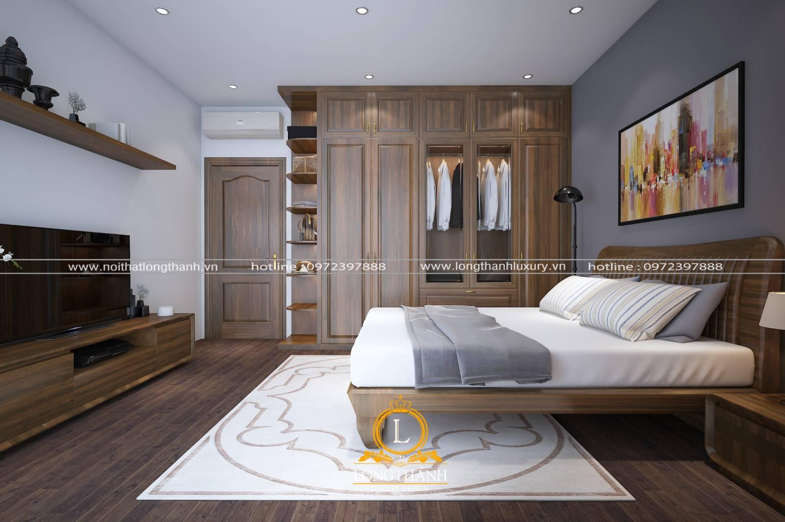Cửa gỗ tân cổ điển tăng thêm vẻ đẹp và nét sang trọng hiện đại