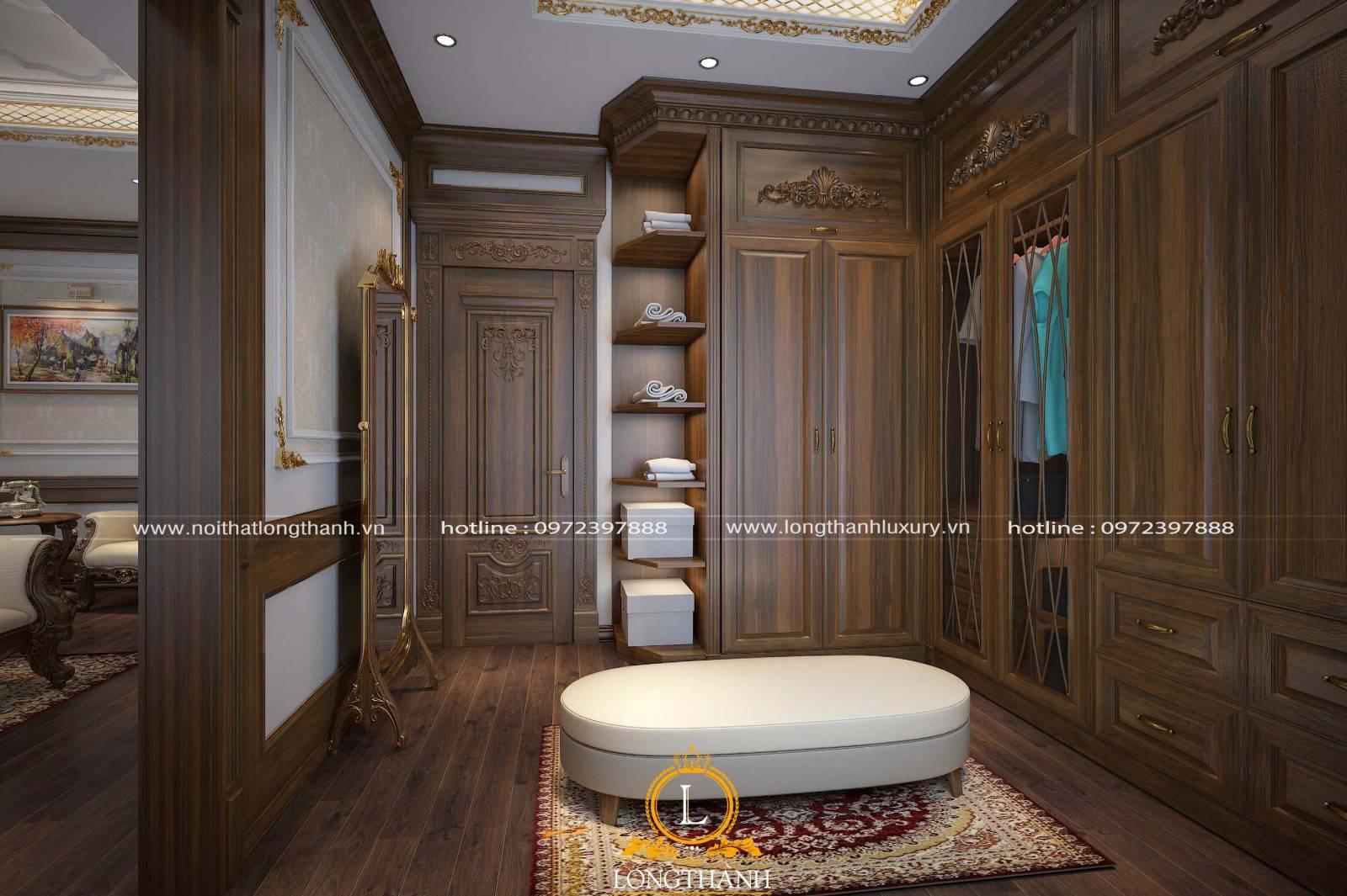 Cửa gỗ tự nhiên cho phòng ngủ theo phong cách cổ điển