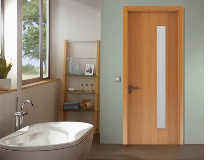 Cửa gỗ chịu nước sử dụng làm cửa phòng vệ sinh chống ẩm