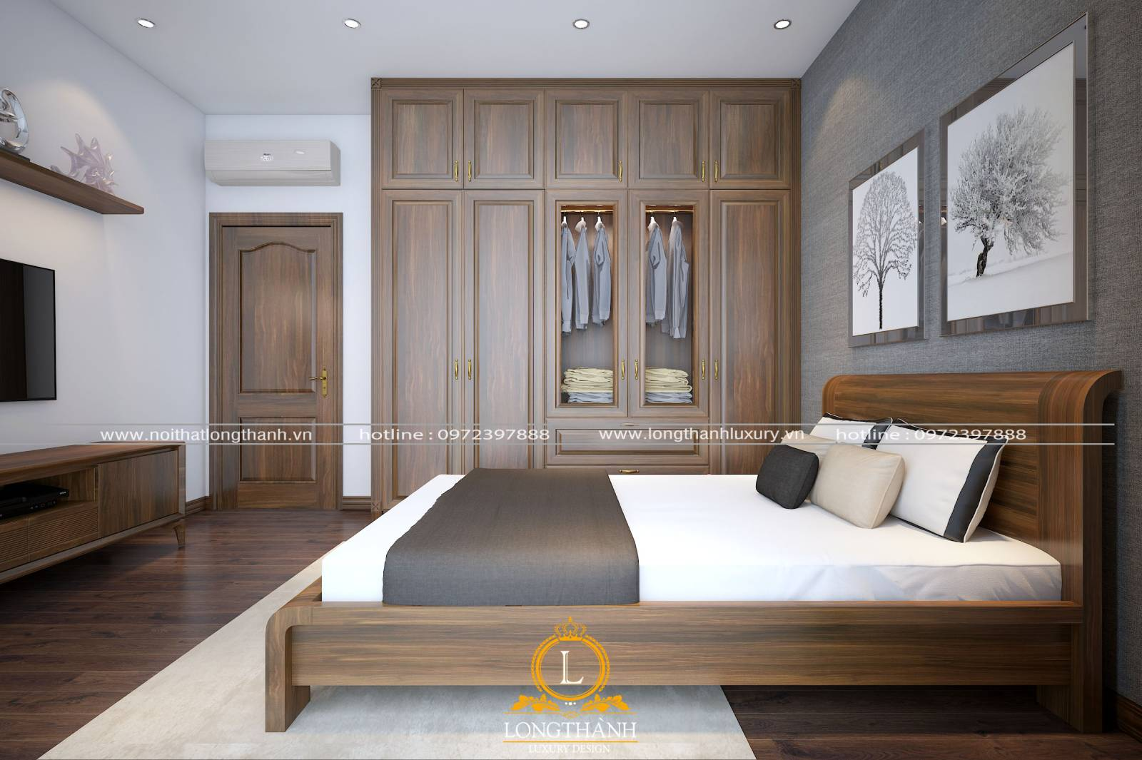 Thiết kế phòng ngủ mang lại sự tiện lợi thoải mái cho gia chủ khi sử dụng