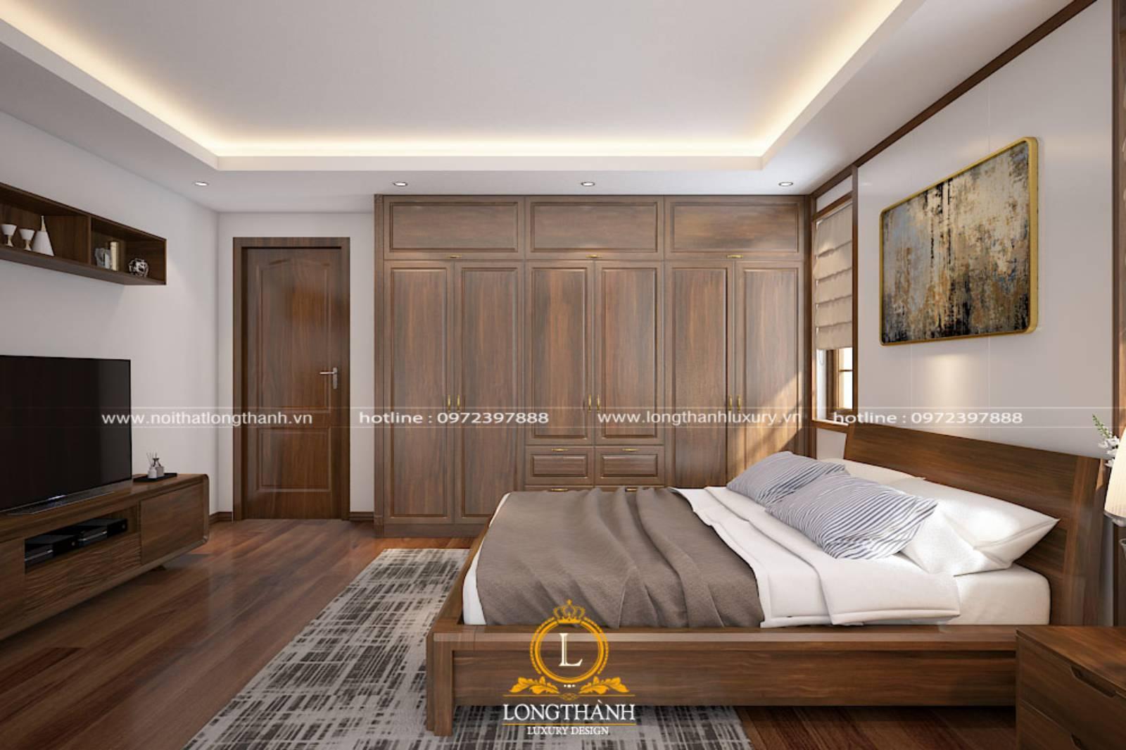 Cửa phòng ngủ gỗ tự nhiên với nhiều ưu điểm vượt trội