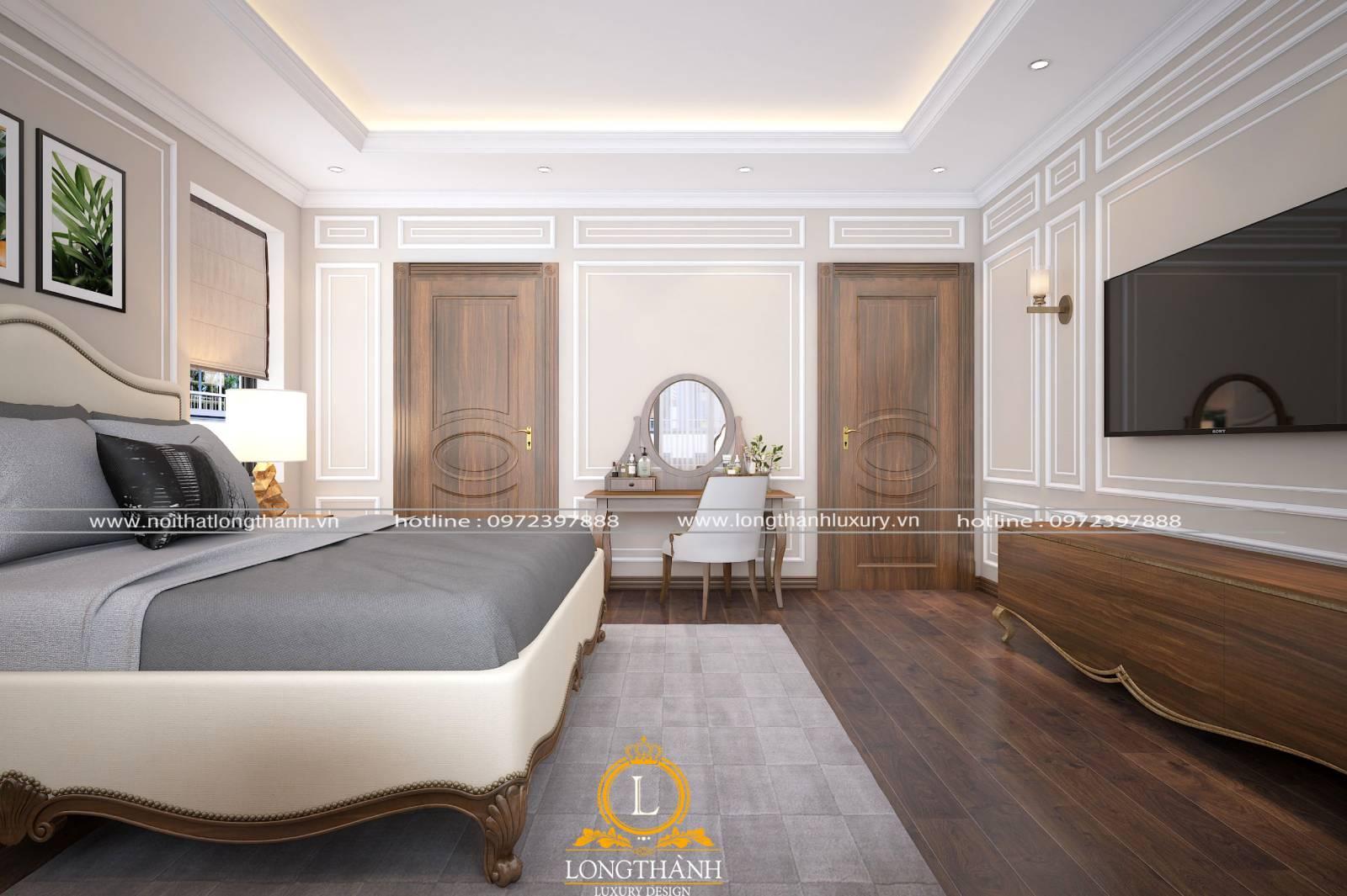 Cửa phòng ngủ tân cổ điển đem lại vẻ sang trọng quý phái