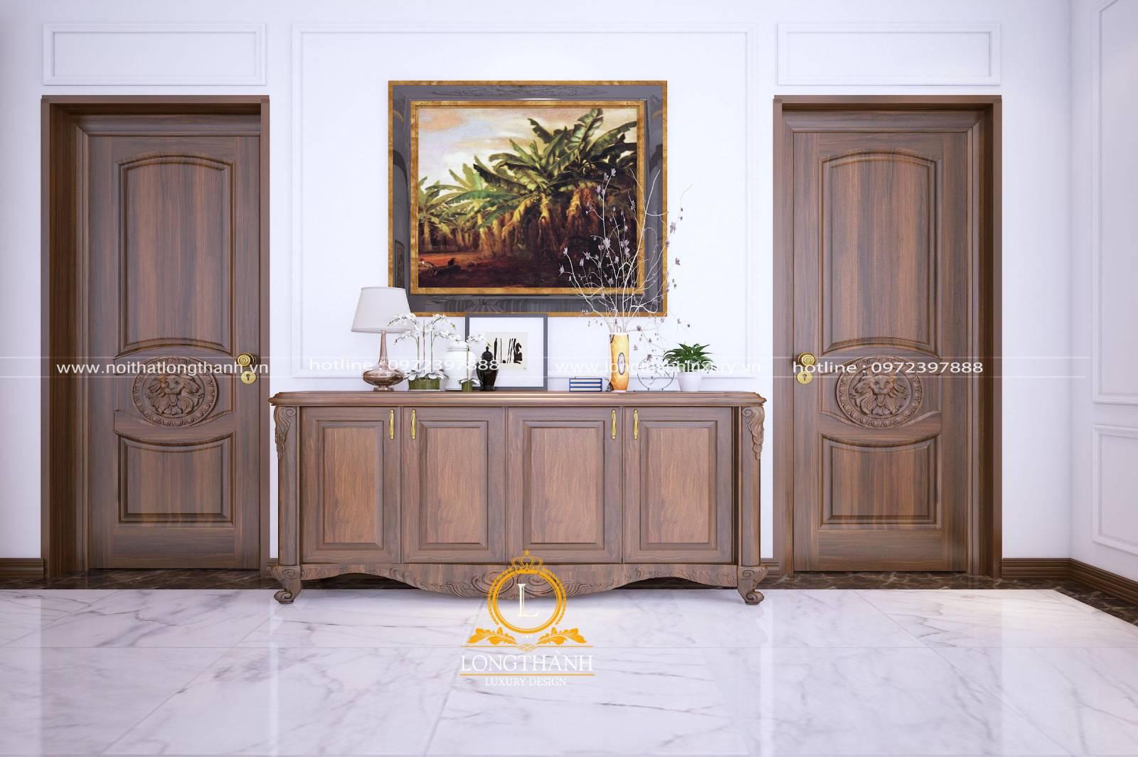 Thiết kế cửa thông phòng làm từ gỗ Sồi tự nhiên nguyên khối theo phong cách hiện đại