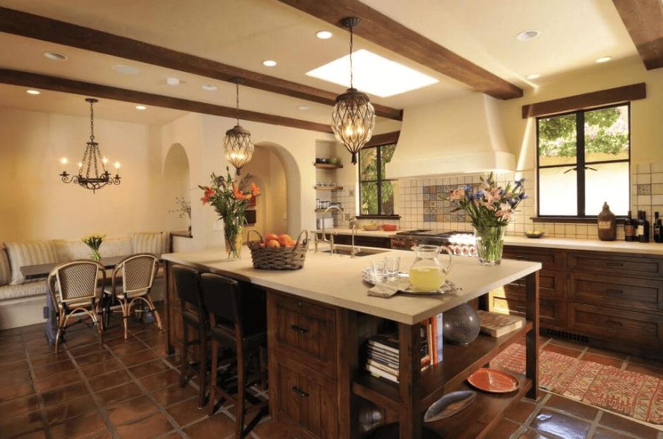 Trang trí phòng bếp theo phong cách Địa trung hải
