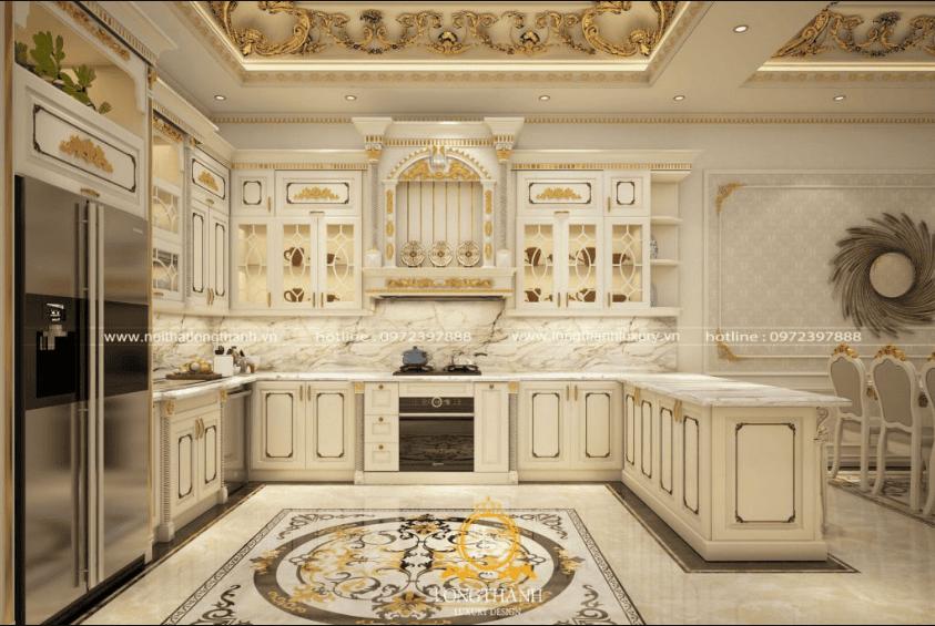 Decor phòng bếp phong cách Tân cổ điển cuốn hút, sang trọng