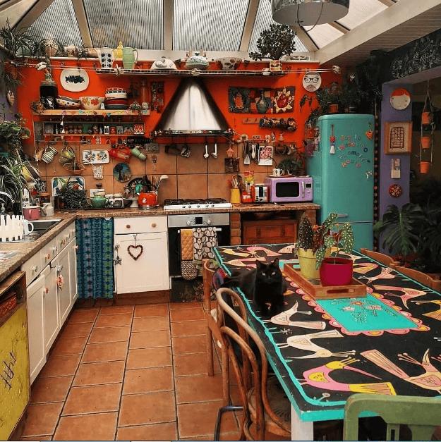 Decor phòng bếp theo phong cách Bohemian