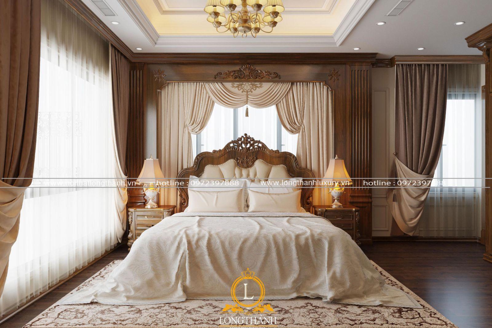 Đèn chùm cho phòng ngủ tân cổ điển ấm cúng