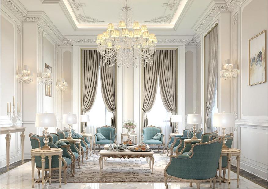 Đèn chùm cổ điển kích thước lớn phù hợp không gian phòng khách rộng