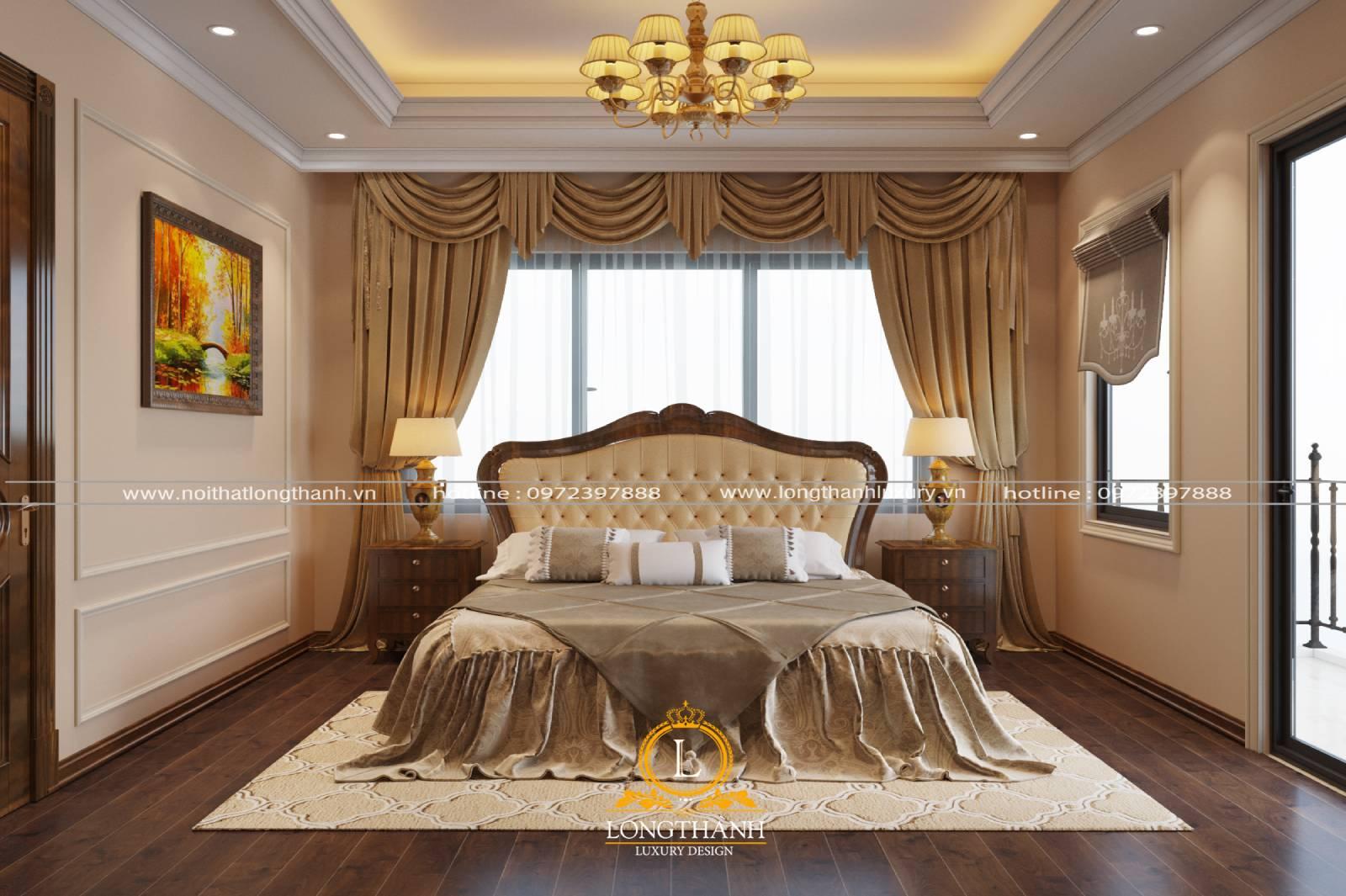 Đèn chùm tân cổ điển cho phòng ngủ nhỏ hài hòa cân đối