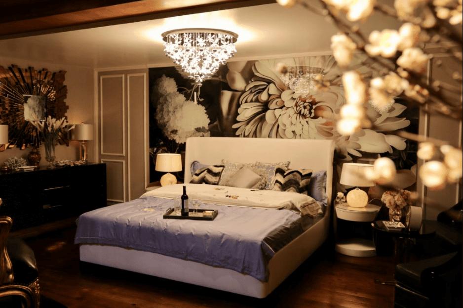 đèn pha lê phòng ngủ