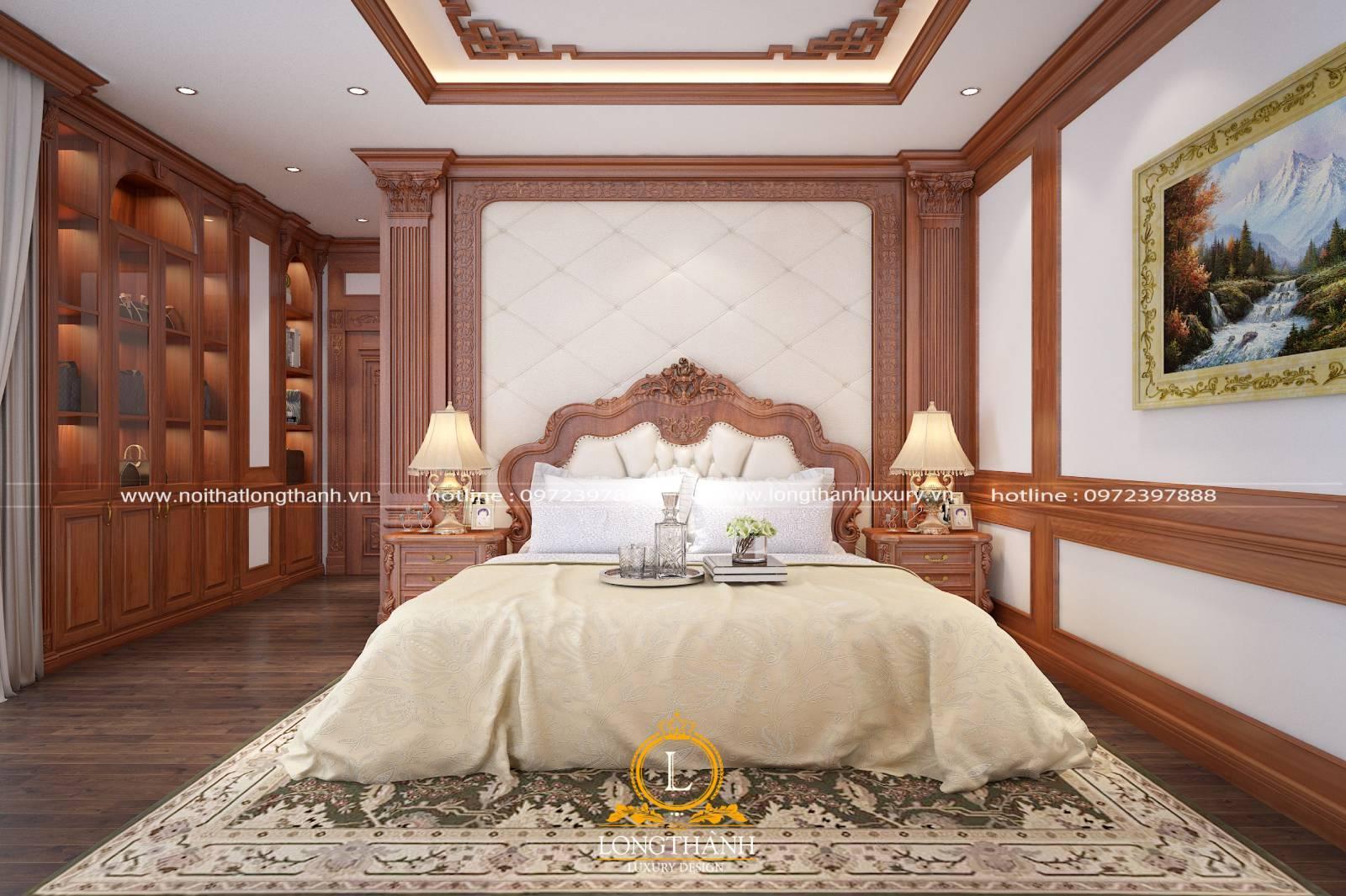 Đèn phòng ngủ tân cổ điển dùng để trang trí tạo điểm nhấn cho căn phòng