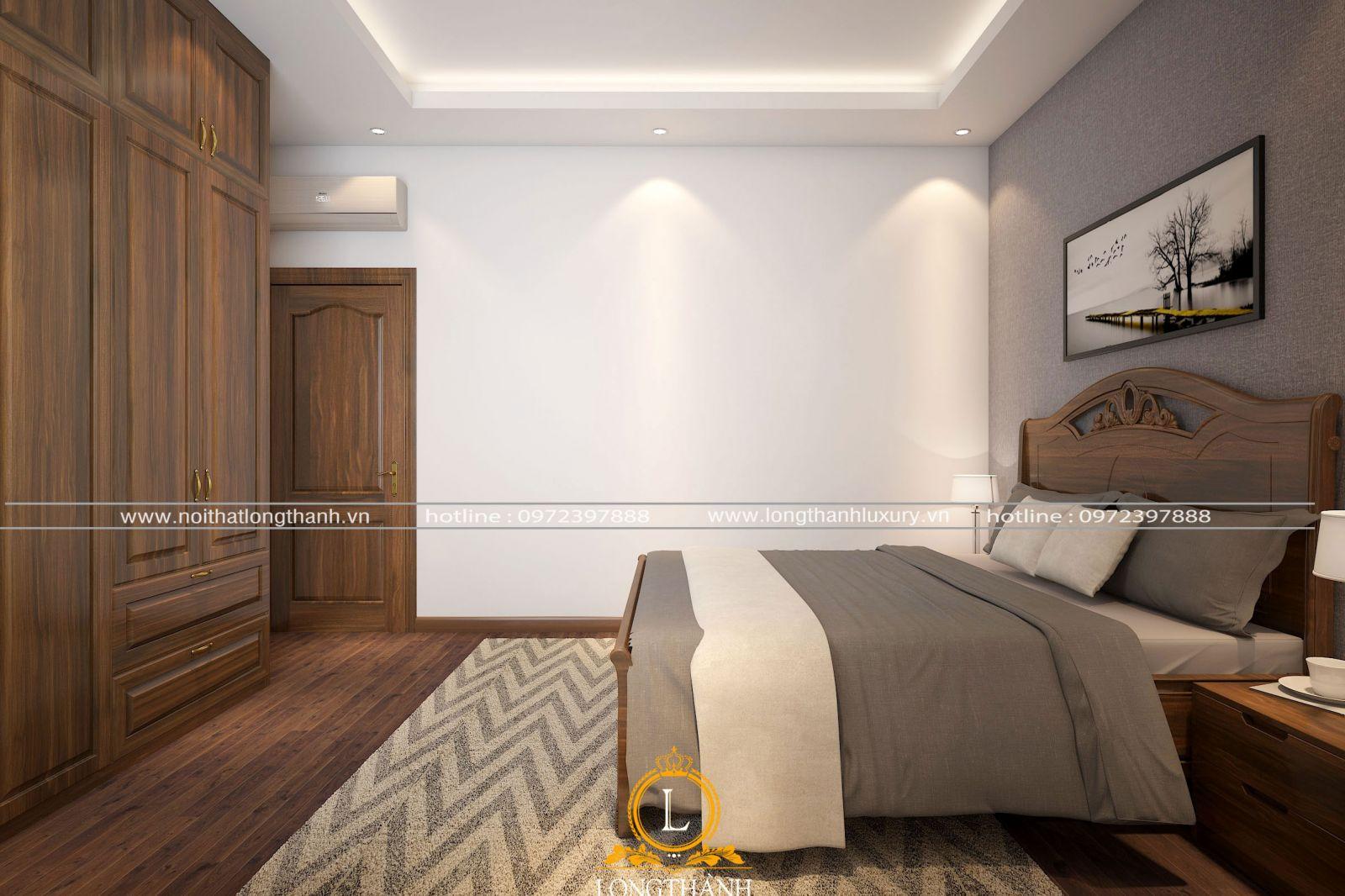 Diện tích nhỏ nhưng căn phòng ngủ bảo đảm sự tiện nghi