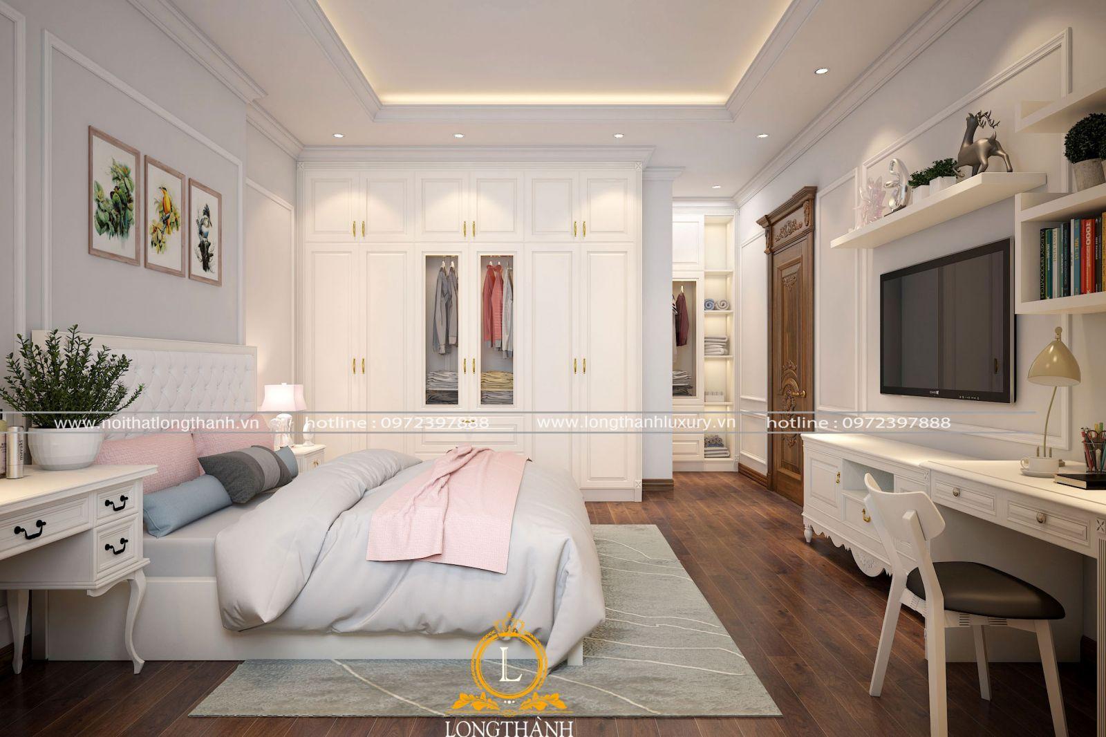 Đồ nội thất phòng ngủ được lựa chọn cân đối tiện sử dụng