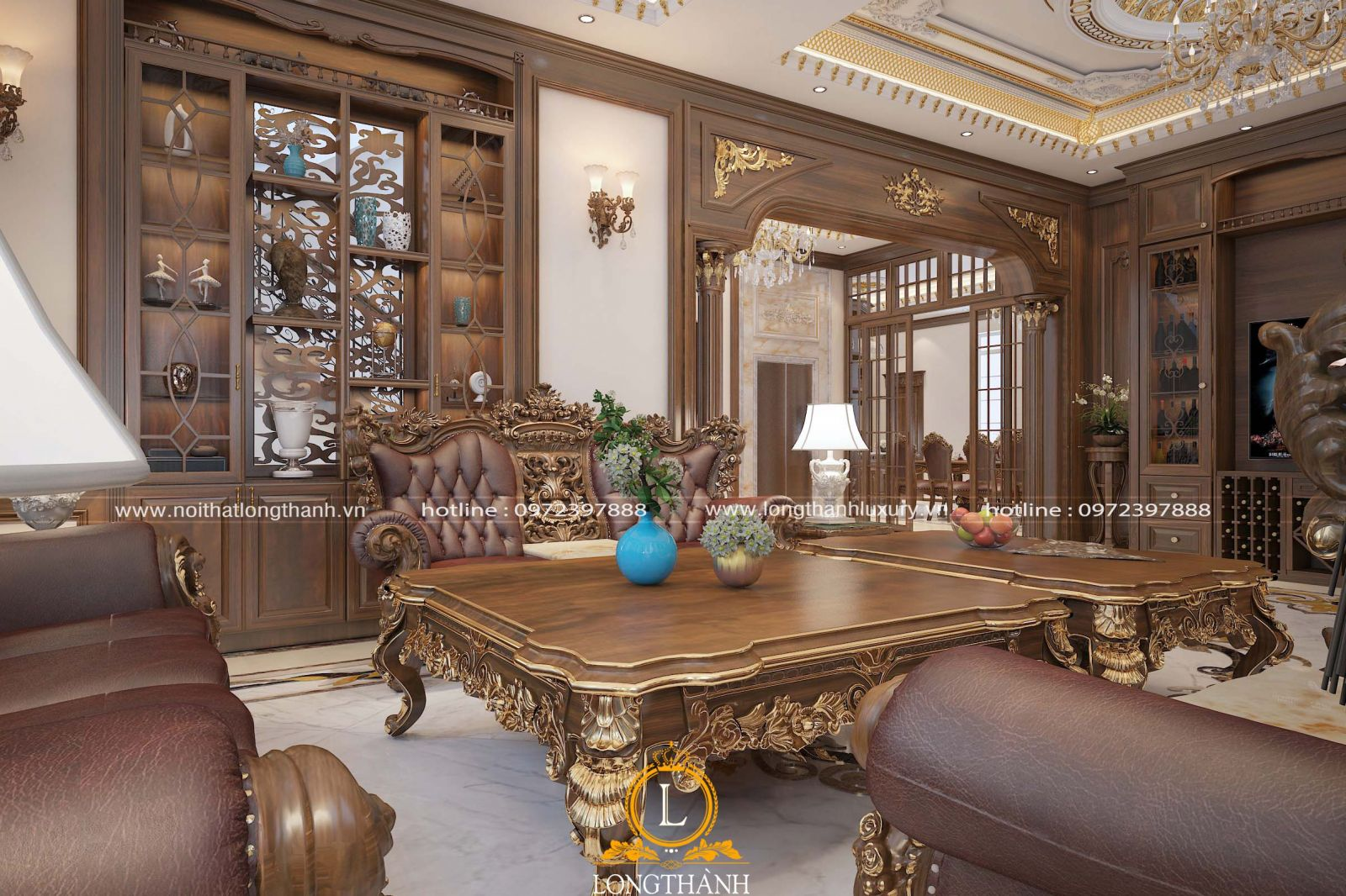 Thiết kế nội thất tân cổ điển đẹp và đẳng cấp