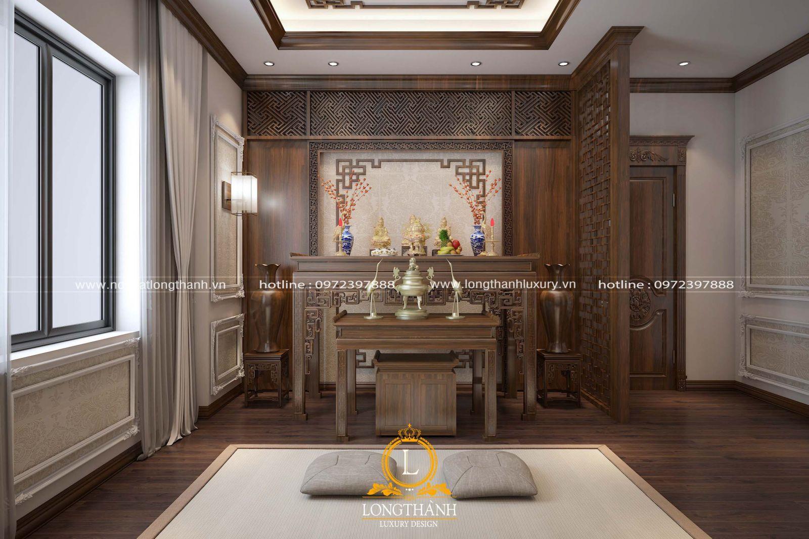 Thiết kế nội thất phòng thờ đơn giản cho nhà chung cư