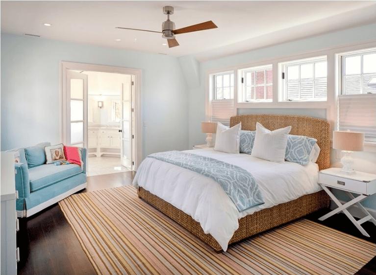 giường mây đan phòng ngủ