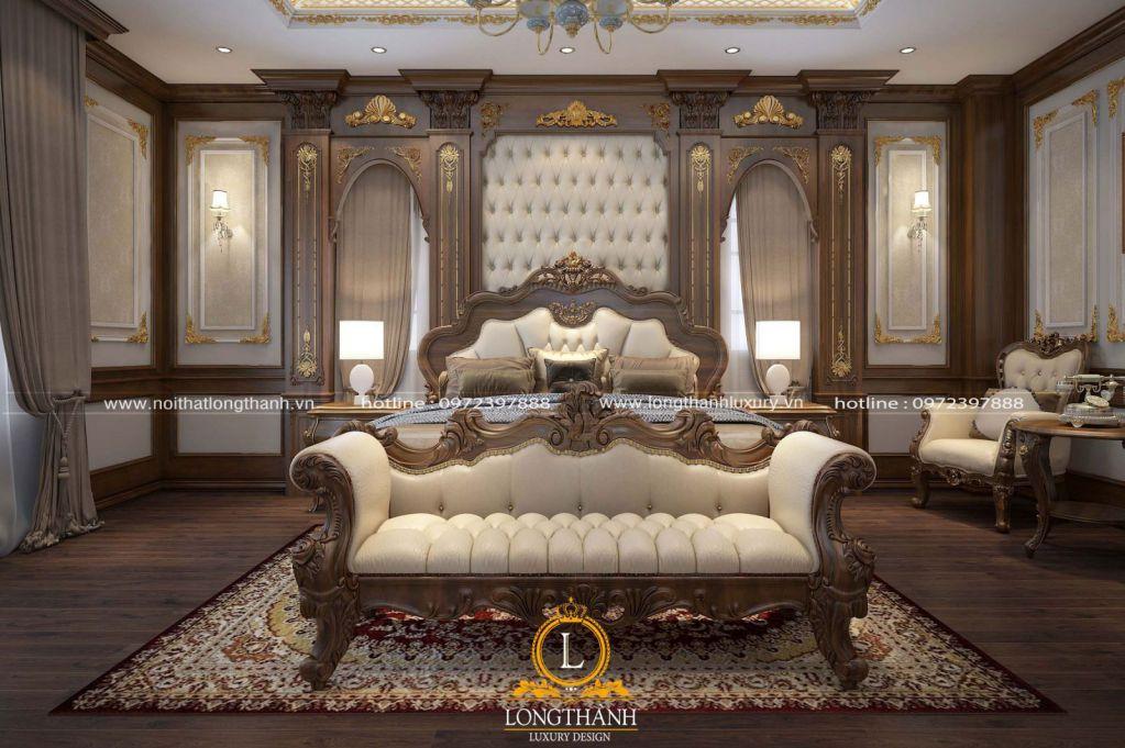 Giường ngủ da tự nhiên với vẻ đẹp sang trọng khác với da nhân tạo