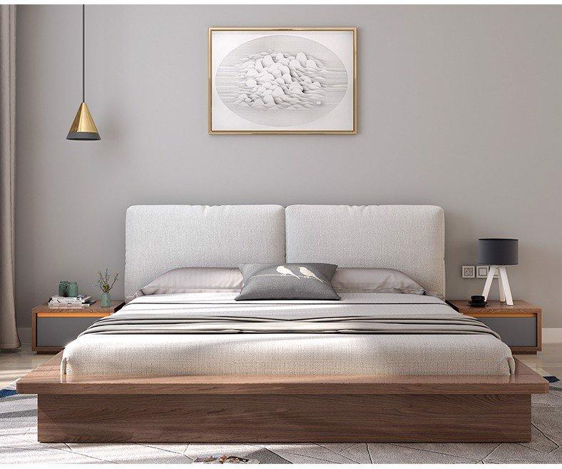 Giường ngủ gỗ veneer hiện đại