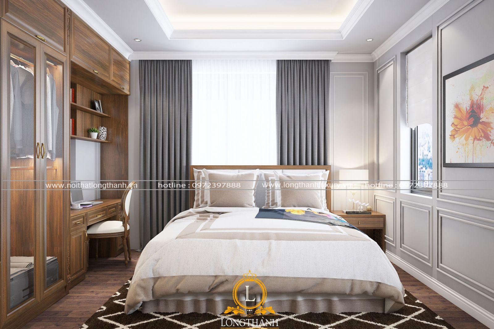 Phòng ngủ nhà biệt thự mini thiết kế theo kiểu hiện đại