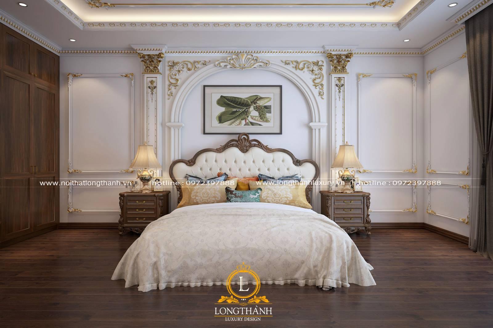 Giường ngủ master tân cổ điển đẹp tạo nên vẻ độc đáo cho phòng ngủ