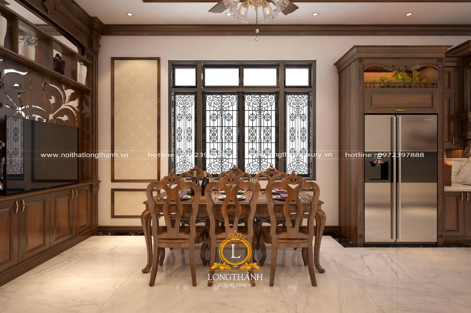 Thiết kế nội thất phòng bếp kết hợp đồng bộ đồ nội thất