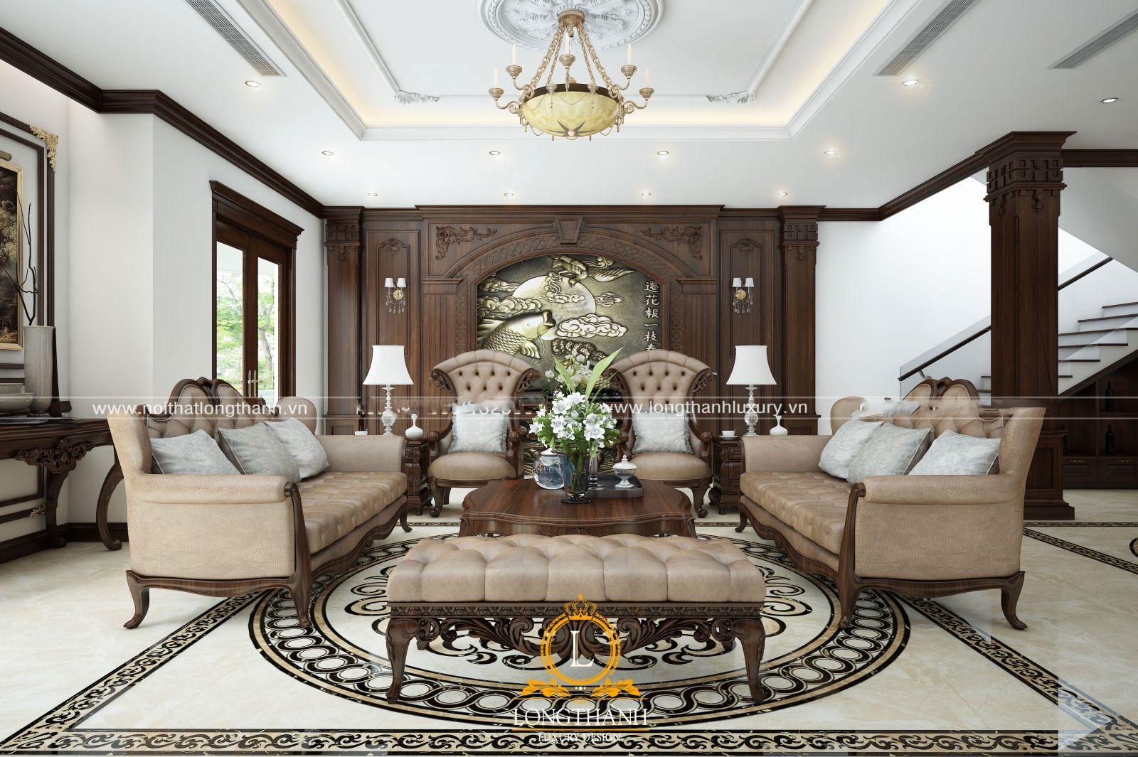Gối tựa sofa phong cách tân cổ điển