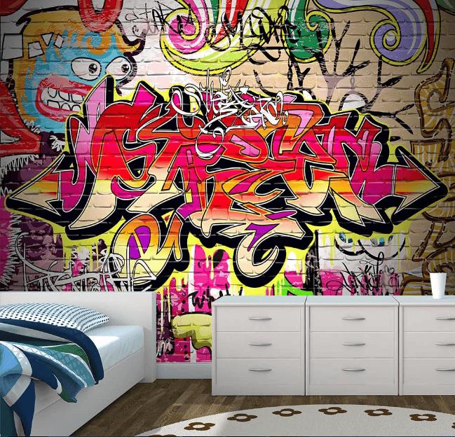 Phong cách Graffiti đầy lạ thường, ấn tượng mạnh mẽ cho không gian nhà bạn