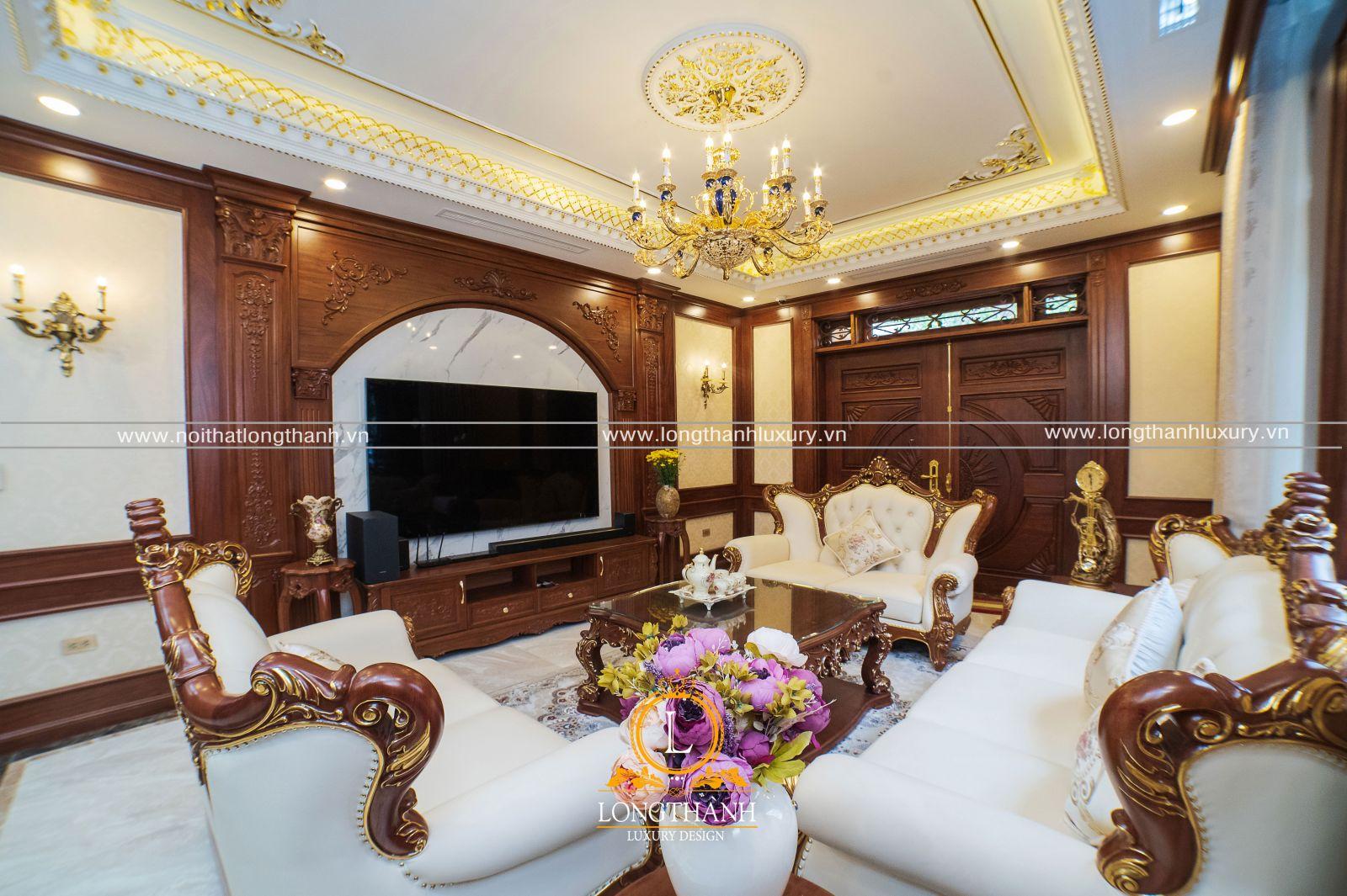 Hình ảnh thực tế sản phẩm nội thất được thiết kế và thi công mang phong cách tân cổ điển