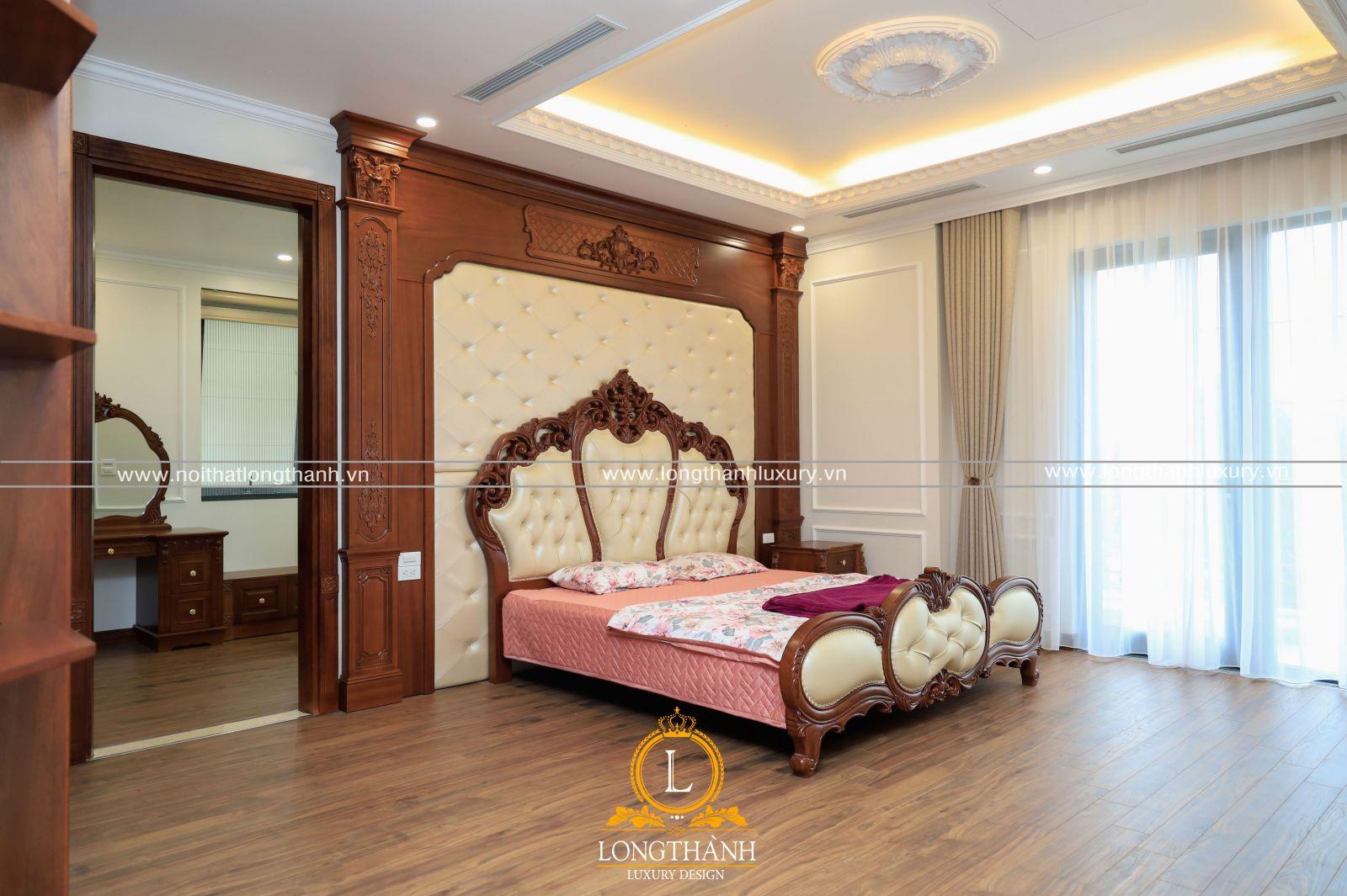 Phòng ngủ Master ấm cúng, sang trọng và quý phái