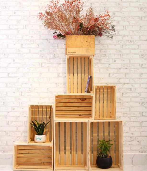 Kệ để đồ bằng gỗ Pallet