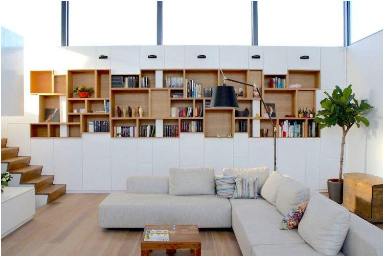 Thiết kế kệ sách cho nhà hiện đại tận dụng tối đa không gian trang trí nhà