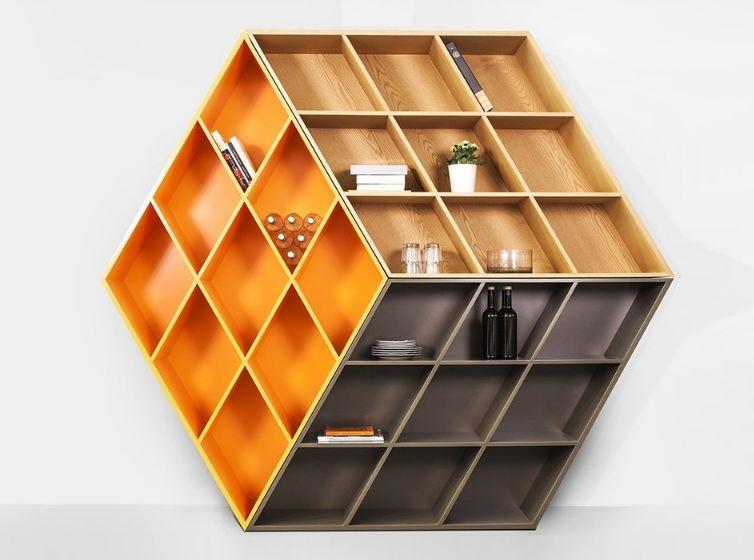 Mẫu kệ sách hình khối Rubic đa chiều tăng tư duy sáng tạo