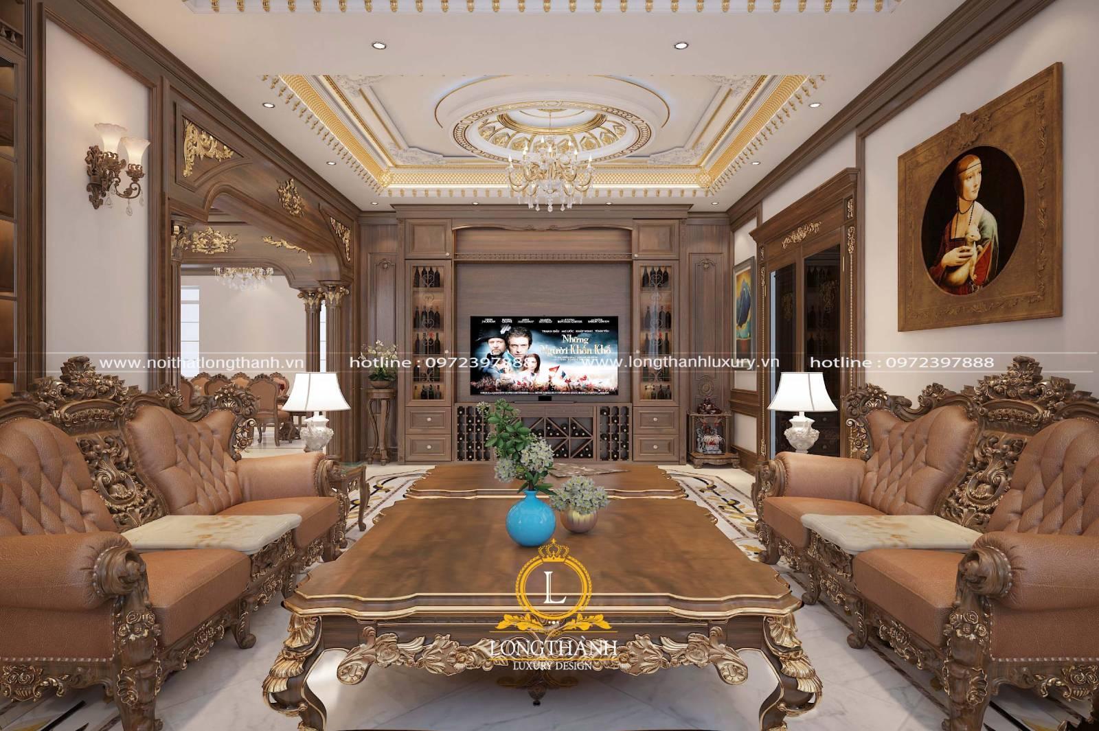 Kê sofa phòng khách đem đến sự tiện lợi thoải mái cho người dùng