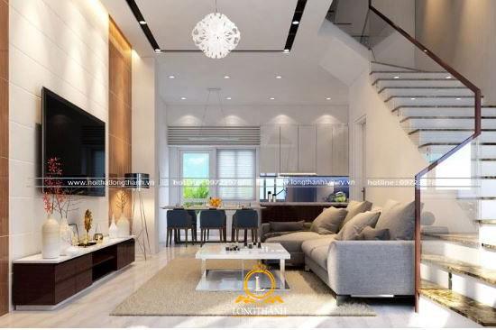 Thiết kế sang trọng cho phòng khách nhà phố có không gian khiêm tốn