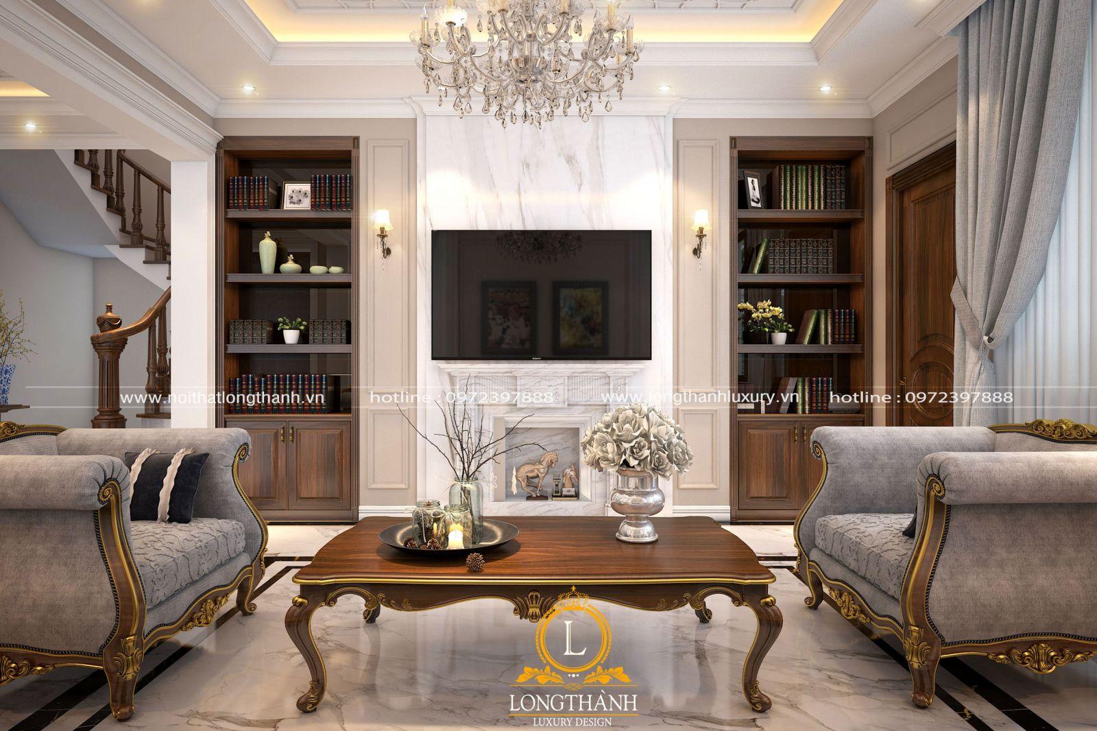 Không gian phòng khách -biệt thự độc đáo