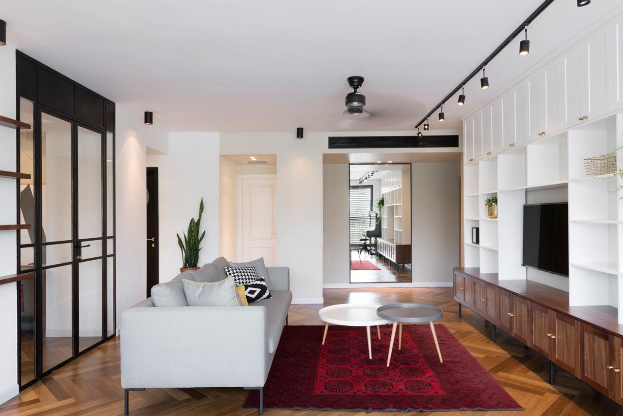 Không gian phòng khách đơn giản, thanh lịch