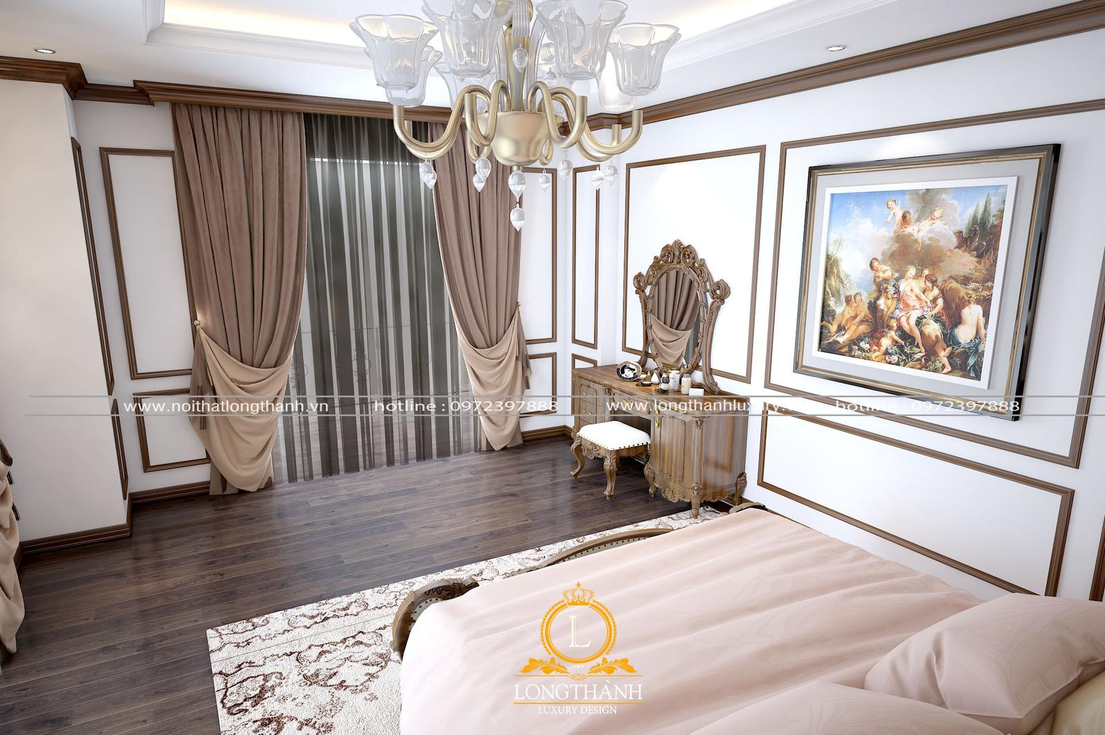 Không gian phòng ngủ ấm cúng lãn mạn