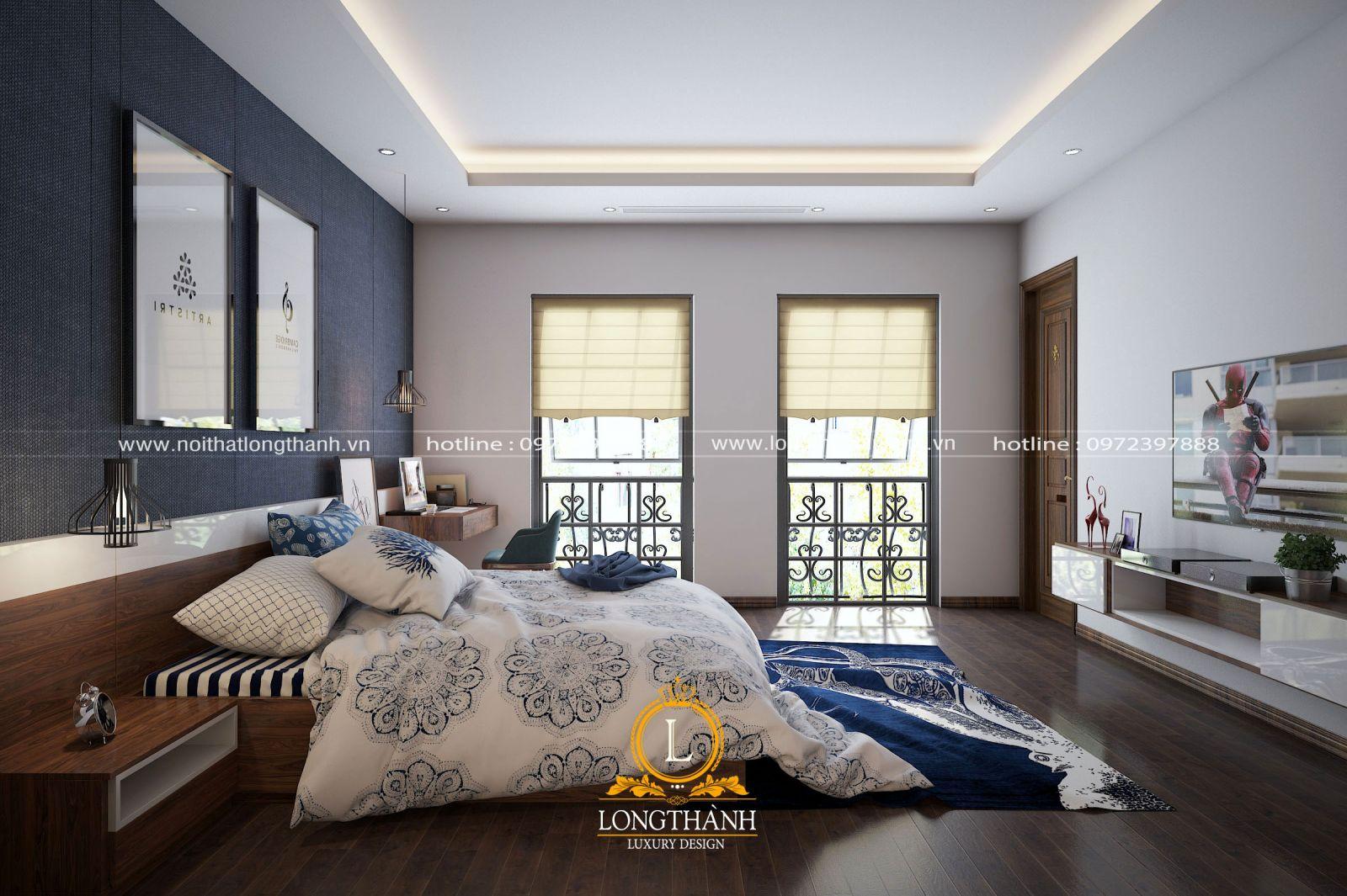 Không gian phòng ngủ cao cấp nhẹ nhàng mà đầy cá tính