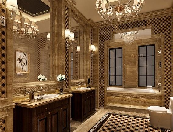 Mẫu phòng tắm sang trọng tinh tế theo phong cách cổ điển Châu Âu