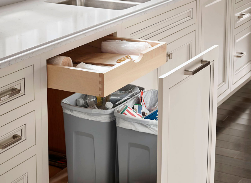 Khu vực lưu trữ các chất thải sau khi nấu ăn xong