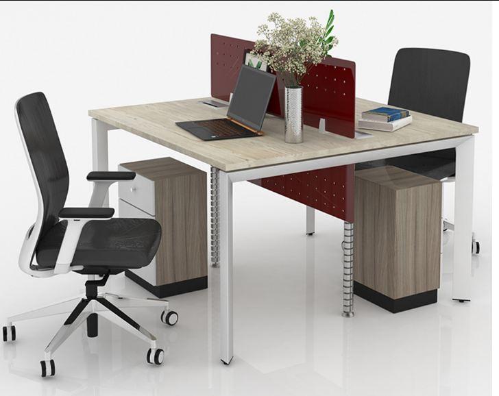Mẫu bàn làm việc hình vuông đẹp với kích thước tiêu chuẩn 1200x1200mm