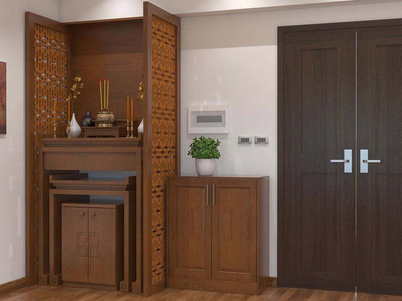 Thiết kế bàn thờ đẹp cho không gian phòng khách nhà chung cư